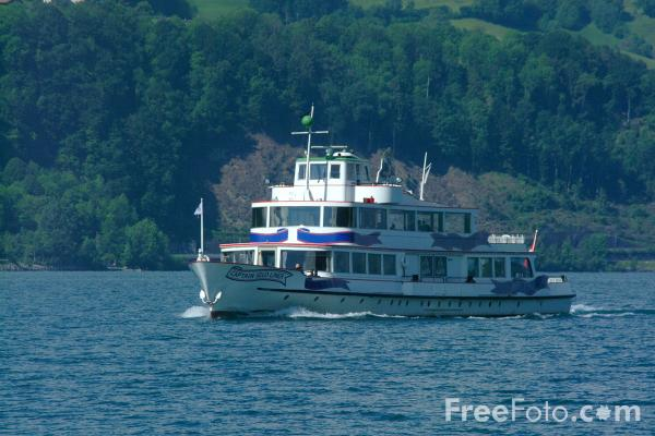 Picture of Ferry, Lake Thun, Berner Oberland, Switzerland - Free Pictures - FreeFoto.com