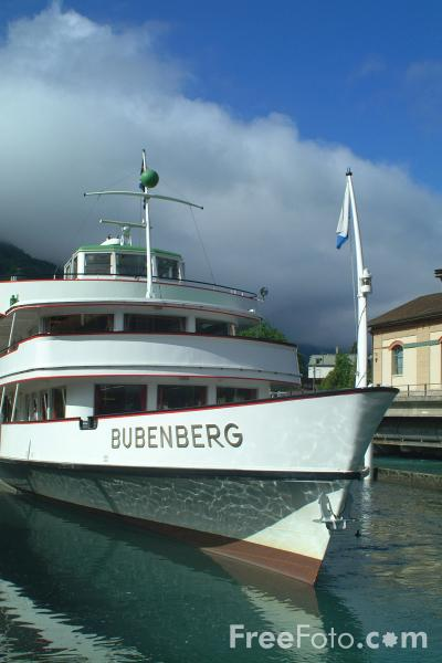 Picture of MV Bubenberg, Lake Thun Ferry, Berner Oberland, Switzerland - Free Pictures - FreeFoto.com