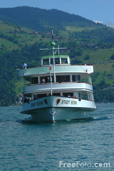Picture of MV Stadt Bern, Lake Thun Ferry, Berner Oberland, Switzerland - Free Pictures - FreeFoto.com