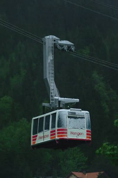 Picture of Cable Car, Wengen, Berner Oberland, Switzerland - Free Pictures - FreeFoto.com