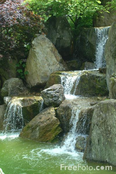 Picture of Waterfall, Japanese Garden, Interlaken - The first Japanese garden in Switzerland - Free Pictures - FreeFoto.com