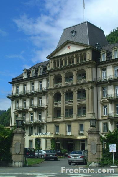 Picture of Grand Hotel Beau Rivage, Interlaken, Berner Oberland, Switzerland - Free Pictures - FreeFoto.com