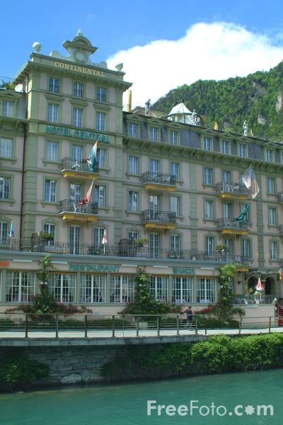Picture of Central Continental Hotel, Interlaken, Berner Oberland, Switzerland - Free Pictures - FreeFoto.com