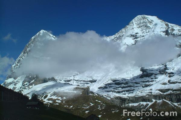 Picture of Jungfrau Mountains - Free Pictures - FreeFoto.com