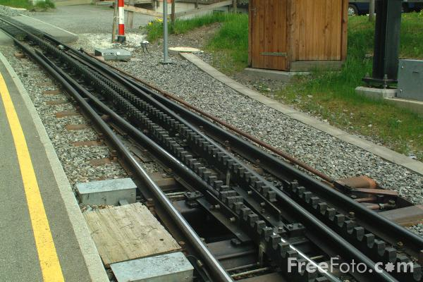 Picture of Rack and pinion railway track - Free Pictures - FreeFoto.com