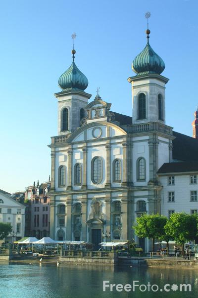Picture of The Baroque Jesuit Church, Lucerne - Free Pictures - FreeFoto.com