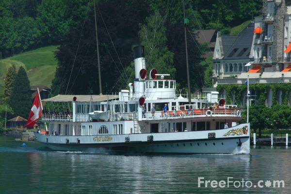 Picture of Paddle Steamer, Lake Lucerne - Free Pictures - FreeFoto.com