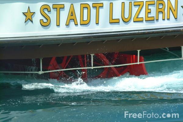 Picture of Paddle Steamer Stadt Luzern, Lake Lucerne - Free Pictures - FreeFoto.com