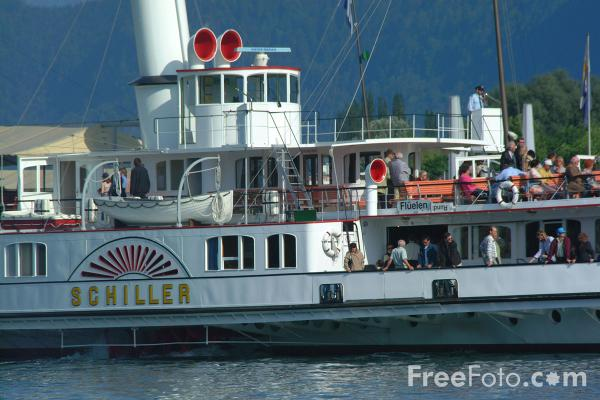 Picture of Paddle Steamer Schiller, Lake Lucerne - Free Pictures - FreeFoto.com