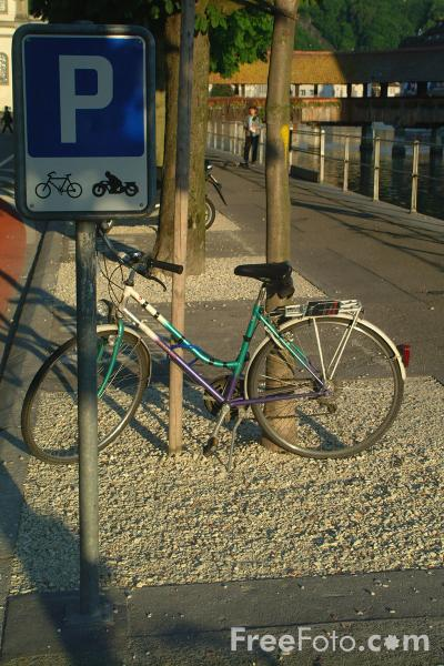 Picture of Bicycle Stand, Lucerne, Switzerland - Free Pictures - FreeFoto.com