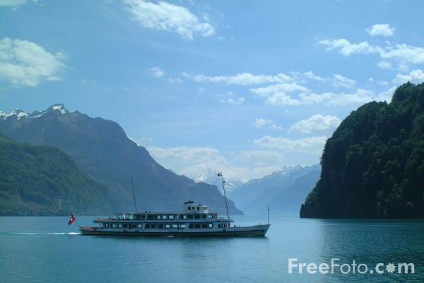 Picture of MV Schwyz, Lake Lucerne Ferry Service, Switzerland - Free Pictures - FreeFoto.com