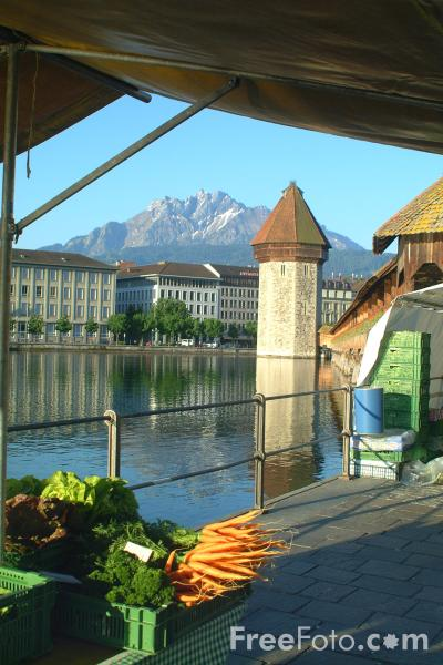 Picture of Fruit and Vegetable Market, Lucerne, Switzerland - Free Pictures - FreeFoto.com