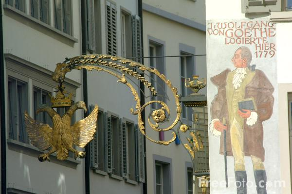 Picture of Medieval Town Centre, Lucerne, Switzerland - Free Pictures - FreeFoto.com