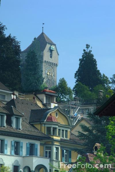 Picture of City Tower, Medieval Town, Lucerne, Switzerland - Free Pictures - FreeFoto.com