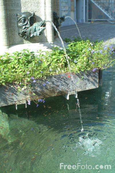 Picture of Fountain, Medieval Town, Lucerne, Switzerland - Free Pictures - FreeFoto.com