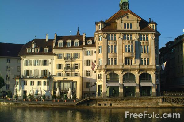 Picture of Lucerne South Bank, Switzerland - Free Pictures - FreeFoto.com