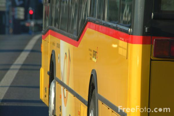 Picture of Postbus, Lucerne, Switzerland - Postauto, Luzern, Die Schweiz - Free Pictures - FreeFoto.com