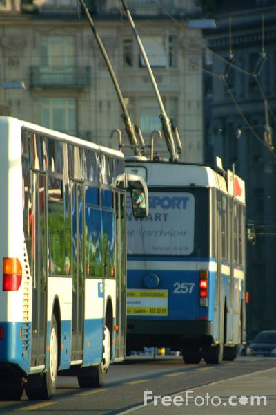 Picture of VBL Trolleybus, Lucerne, Switzerland - Free Pictures - FreeFoto.com