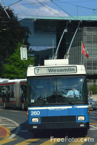 Picture of 7 Wesemlin, VBL Trolleybus, Lucerne, Switzerland - Free Pictures - FreeFoto.com