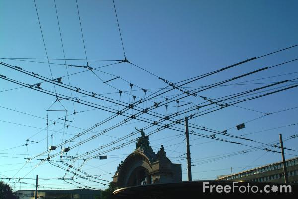 Picture of Trolleybus Wires, Lucerne, Switzerland - Free Pictures - FreeFoto.com