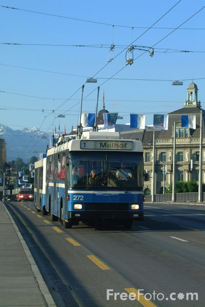 Picture of Bus Network, Lucerne, Switzerland - Free Pictures - FreeFoto.com