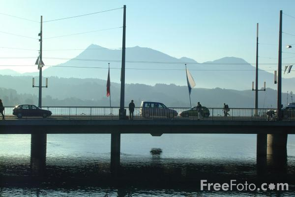 Picture of Seebrucke, River Ruess, Lucerne, Switzerland - Free Pictures - FreeFoto.com