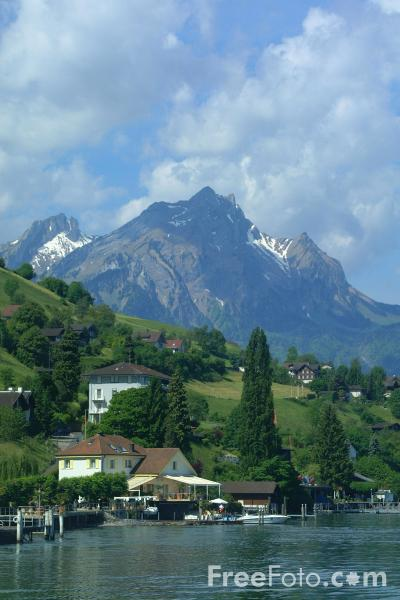 Picture of Mount Pilatus seen from Burgenstock, Lake Lucerne, Switzerland - Free Pictures - FreeFoto.com