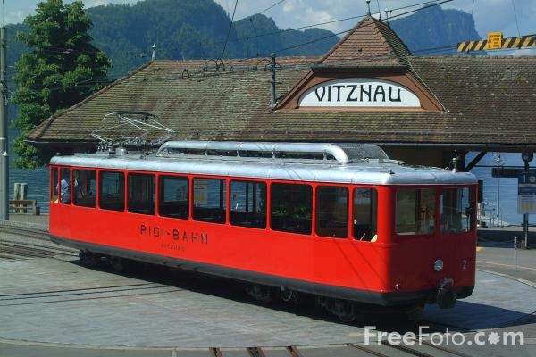 Picture of The Vitznau - Rigi Railway, Lake Lucerne, Switzerland - Free Pictures - FreeFoto.com