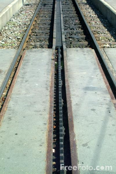 Picture of Rack Railway Track, Vitznau, Lake Lucerne, Switzerland - Free Pictures - FreeFoto.com