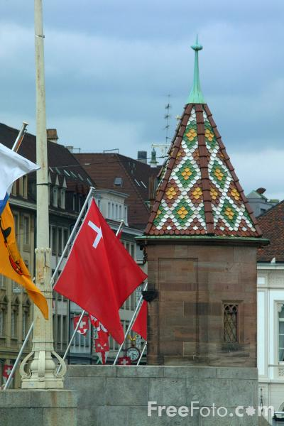 Picture of Flags, Basel, Switzerland - Free Pictures - FreeFoto.com