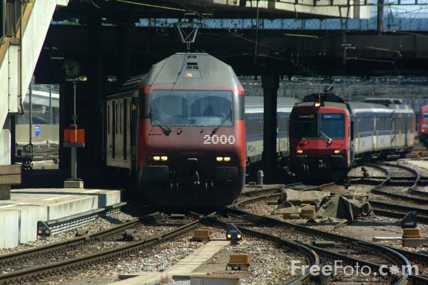 Picture of Railway Station, Basel, Switzerland - Free Pictures - FreeFoto.com