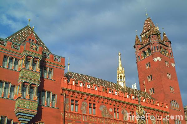 Picture of Town Hall, Basel, Switzerland - Free Pictures - FreeFoto.com