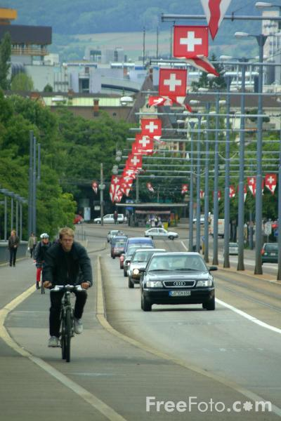 Picture of Traffic, Basel, Switzerland - Free Pictures - FreeFoto.com