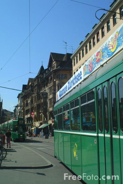 Picture of Trams, Basel, Switzerland - Free Pictures - FreeFoto.com