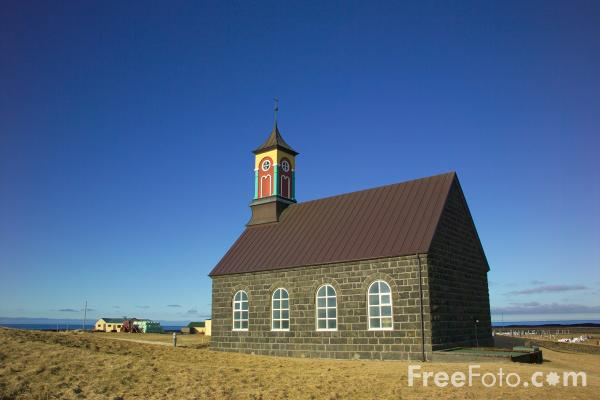 Picture of Hvalsnes Church, Iceland - Free Pictures - FreeFoto.com