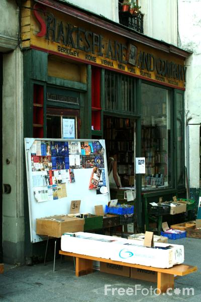 Picture of Shakespeare and Company Bookstore, The Latin Quarter, Paris - Free Pictures - FreeFoto.com