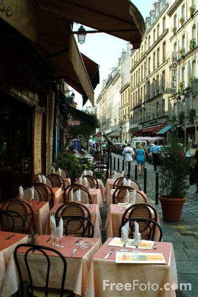 Picture of Cafe, The Latin Quarter, Paris, France - Free Pictures - FreeFoto.com