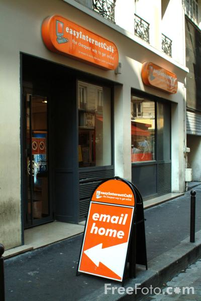Picture of Easy Internet Cafe, The Latin Quarter, Paris, France - Free Pictures - FreeFoto.com