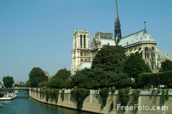 Picture of Notre Dame Cathedral, Paris, France - Free Pictures - FreeFoto.com