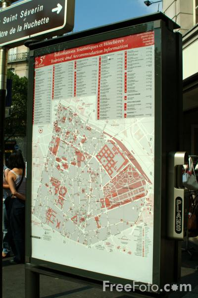 Picture of Paris Directions Map - Free Pictures - FreeFoto.com