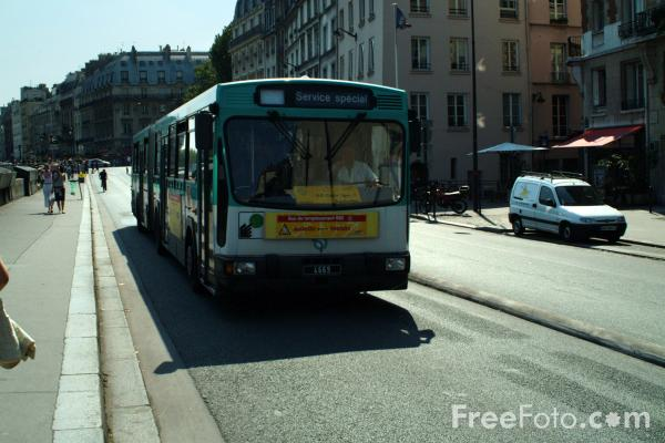 Picture of Bus - Public Transport, Paris, France - Free Pictures - FreeFoto.com