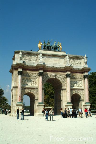 Picture of Arc de Triomphe du Carrousel, Paris, France - Free Pictures - FreeFoto.com