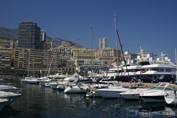 Picture of Monaco Harbour Pont de Monaco - Free Pictures - FreeFoto.com