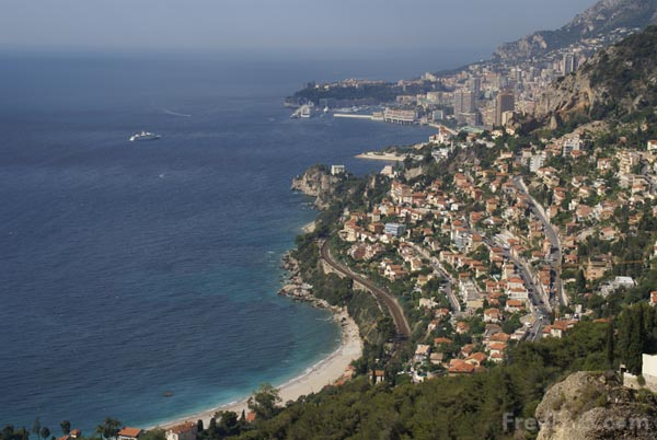 Picture of View east to Monaco from Roquebrune - Free Pictures - FreeFoto.com