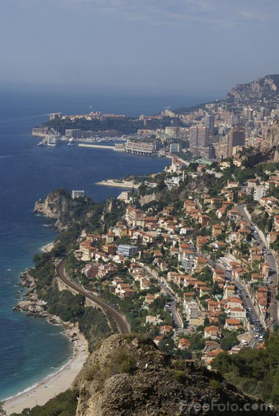 Picture of View wast to Monaco from Roquebrune - Free Pictures - FreeFoto.com