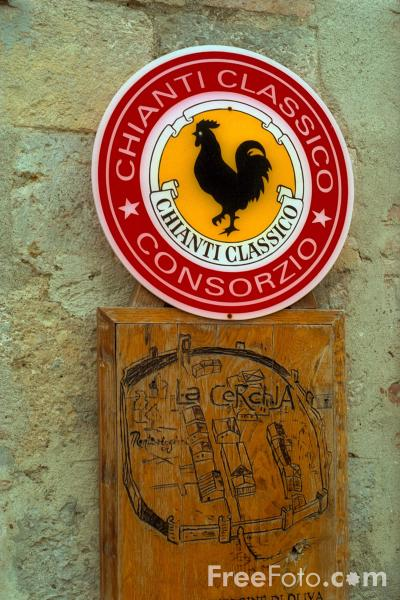 Picture of Chianti Classico Wine Sign, Tuscany, Italy - Free Pictures - FreeFoto.com
