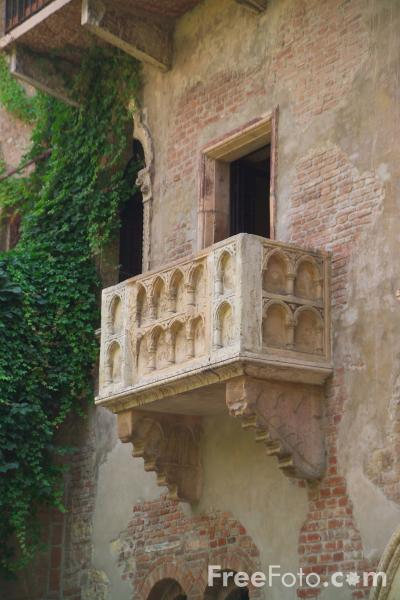 Picture of Romeo and Juliet Balcony, Verona Italy - Free Pictures - FreeFoto.com