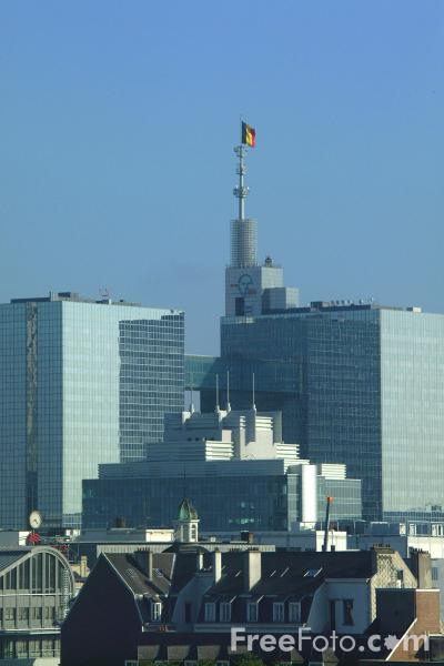 Picture of Brussels Skyline, Belgium - Free Pictures - FreeFoto.com