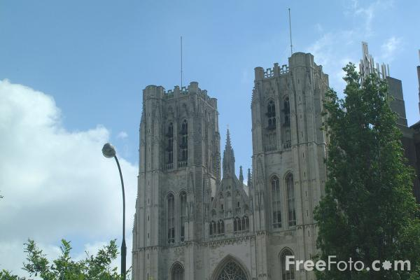 Picture of Cathedral of St. Michael and St. Gudula, Brussels, Belgium - Free Pictures - FreeFoto.com