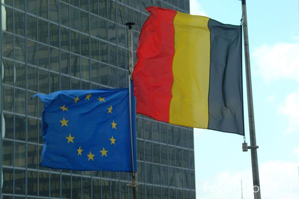 Picture of European Union and Belgium Flag - Free Pictures - FreeFoto.com